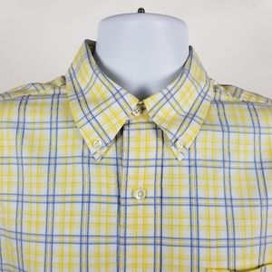 Brooks Brothers Country Club Yellow Blue Check L